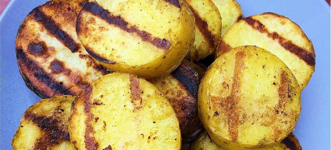 gegrilde aardappelen