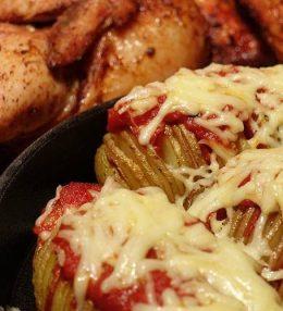 Hasselback Aardappelen met Chorizo