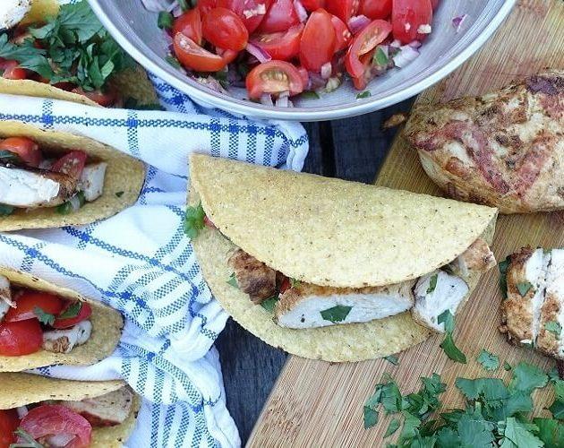 Spicy BBQ Kip Taco