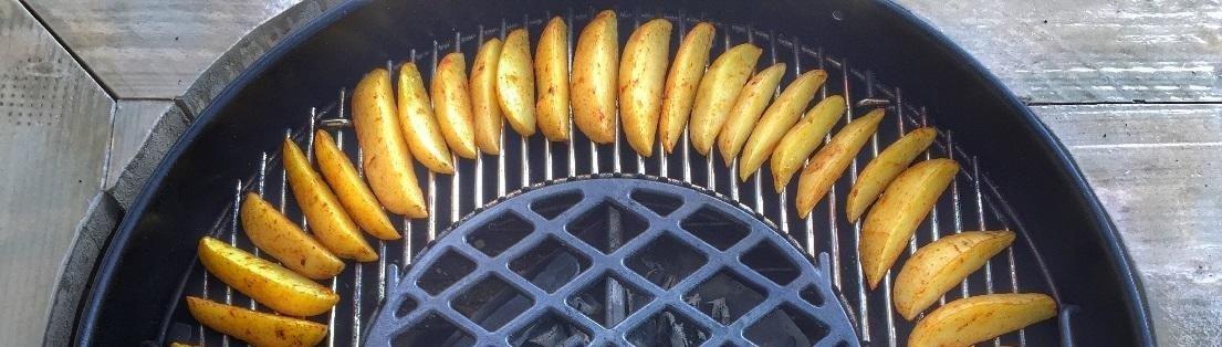 gegrilde aardappel
