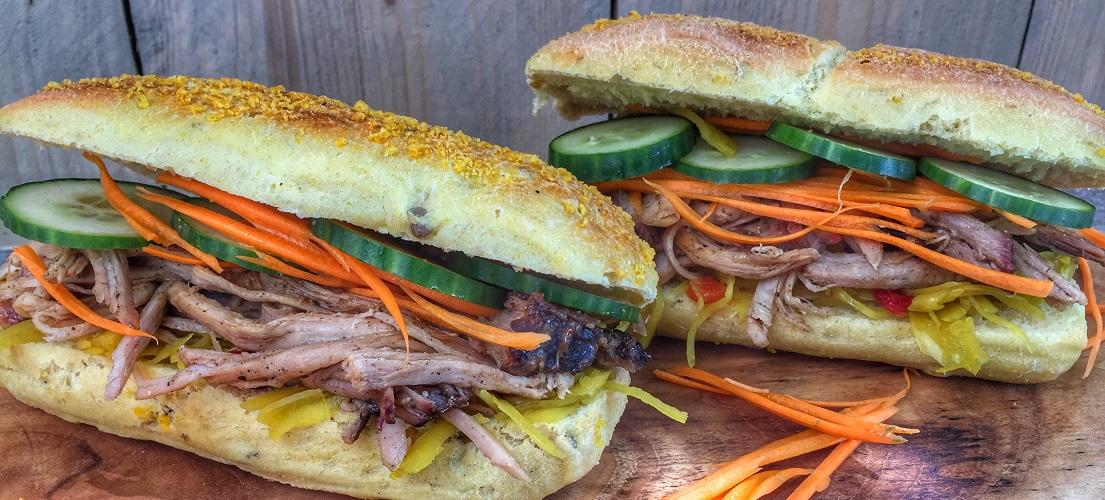 Aziatisch Broodje Pulled Pork