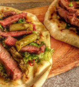 Piadine Wrap met Rib eye Steak en Gormas
