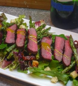 Wildsalade met Hertenrugfilet