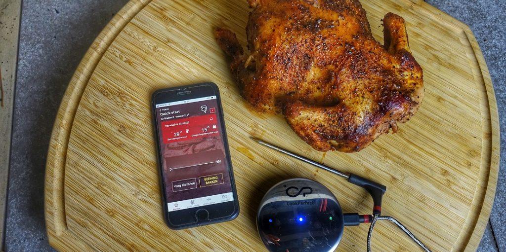 gegrilde kip met meter