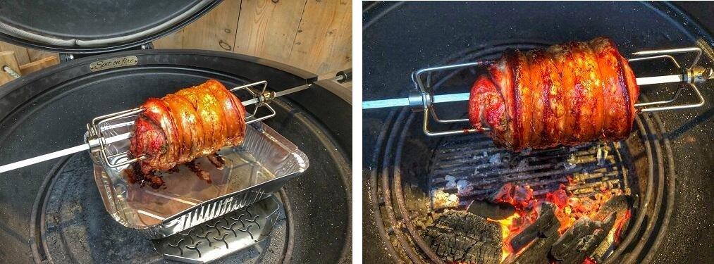 porchetta op de BBQ