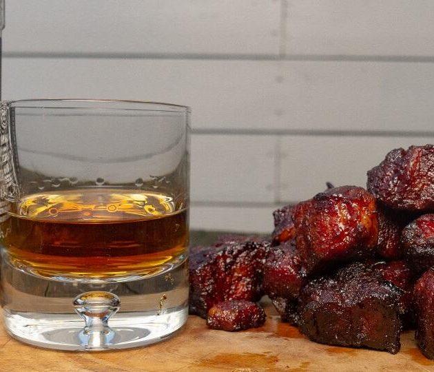 whisky pork belly burnt ends