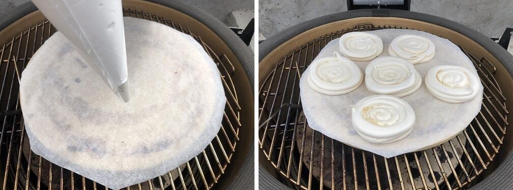 meringue op kamado
