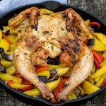 Gevlinderde kip BBQ