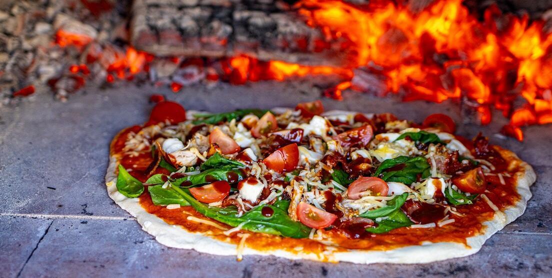 pizza met kip