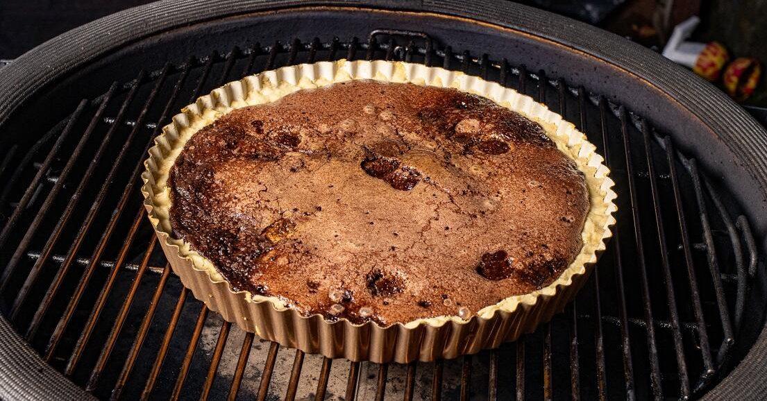 makkelijke chocoladetaart bbq