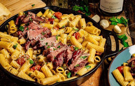 steak pasta