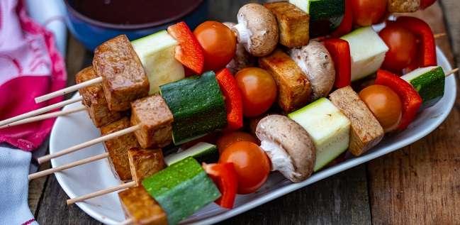 kebab groenten spies