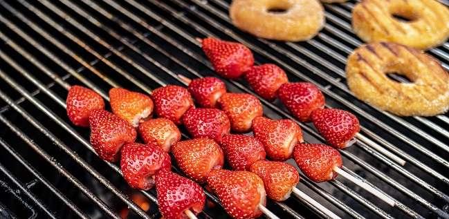 gegrilde aardbeien
