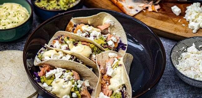 tacos met zalm