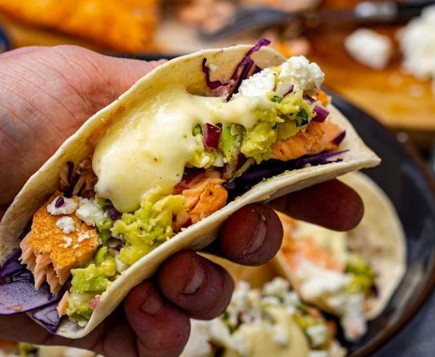 zalm taco