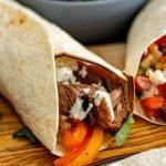 BBQ tortilla wraps